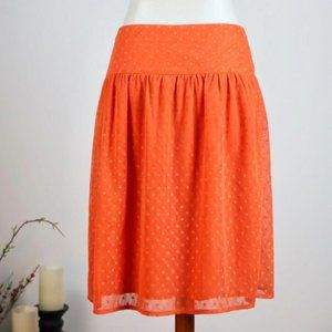 DOWNEAST BRAND ORANGE MIDI W/ SHEER POLKADOTS, SM